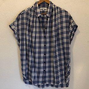 Madewell central Linus plaid shirt M